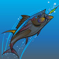 Fishing catch the fast floating fish in a sporting event with spinners Royalty Free Stock Photo