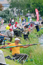 Fishing competition minsk belarus june annual rs cup the contest takes place yearly on the last weekend of june in the center of Stock Photos