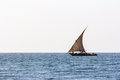 Fishing dhow sailing Royalty Free Stock Photo