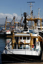 Fishing fleet in harbour Royalty Free Stock Photography