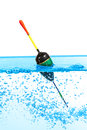 Fishing float against the white background Royalty Free Stock Photography