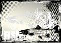 Fishing grunge background Royalty Free Stock Photo