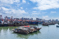 Fishing harbor of Beihai,China Royalty Free Stock Photography