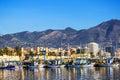 Fishing harbor of Fuengirola, holiday resort near Malaga, Southern Spain Royalty Free Stock Photo