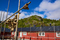 Fishing hut traditional in nusfjord on lofoten islands norway Royalty Free Stock Photography