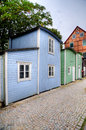 Fishing huts in malmo sweden Stock Images
