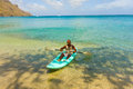 Fishing in a kayak in the windward islands Royalty Free Stock Photo
