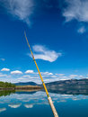 Fishing on Lake Laberge, Yukon Territory, Canada Stock Images