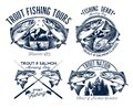 Fishing Logo Set Royalty Free Stock Photo