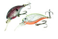 Fishing lure wobblers on white background Stock Photography
