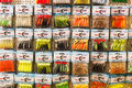 Fishing lures on display at and hunting fair in bucharest Stock Images
