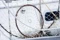 Fishing net drying Royalty Free Stock Photo