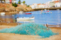 Fishing net in Ferragudo, Portugal Royalty Free Stock Photo