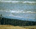 The fishing net it is in italian seaside Royalty Free Stock Photos