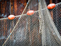 Fishing net at an old port Royalty Free Stock Photography