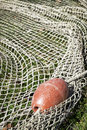 Fishing net at an old port Stock Photography