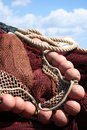Fishing net, red. Stock Photography