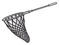 Fishing net tool fish fish scoop Stock Photos