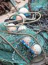 Fishing nets Stock Images