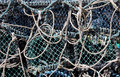 Fishing nets abstract background of tangled Royalty Free Stock Images