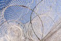 Fishing nets at the baltic sea Royalty Free Stock Photography