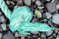 Fishing nets on a beach Royalty Free Stock Photo