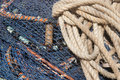 Fishing nets closeup. Stock Photo