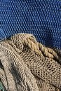 Fishing nets still life background pattern Royalty Free Stock Image