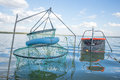 Fishing pens in water Royalty Free Stock Photo