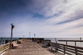 The fishing pier at chesapeake beach along the chesapeake bay in maryland Stock Photo