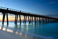 Fishing pier on the panhandle of florida and the gulf of mexico Stock Photos