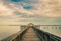 Fishing pier on the Potomac River in Leesylvania State Park, Vir Royalty Free Stock Photo