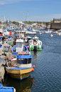 Fishing port of concarneau in france commune the finistère department brittany north western Stock Photos