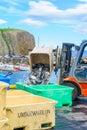 Fishing port scene in Stykkisholmur Royalty Free Stock Photo