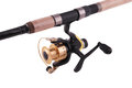 Fishing rod, reel (Clipping path) Stock Image