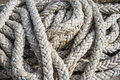 Fishing rope coiled texture background Royalty Free Stock Photos