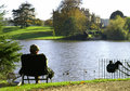 Fishing sherborne castle th century castle in dorset england Stock Photos