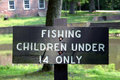 Fishing Sign Stock Photography