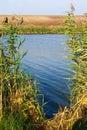 Fishing spot on lake Royalty Free Stock Photo