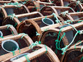 Fishing tackle in the coast waiting for the fisherman Royalty Free Stock Photography