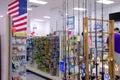 Fishing tackle supplies store shop Royalty Free Stock Photo