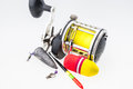 Fishing tackle on white background Stock Photography