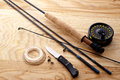 Fishing tools set Stock Photography