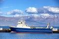 Fishing trawler in reykjavik harbor iceland during summer Stock Photos