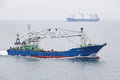The fishing vessel on the move