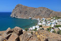 Fishing village at Crete island in Greece Royalty Free Stock Photo