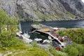 Fishing village on fjord Royalty Free Stock Photo