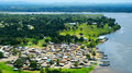 Fishing village in Monrovia of Liberia Royalty Free Stock Photo