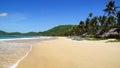Fishing village at Nacpan Beach. El Nido Stock Images