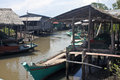 Fishing village near kampot cambodia Stock Photos